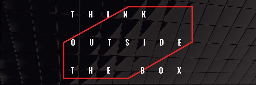 Think outside the box citation — Créer un visuel