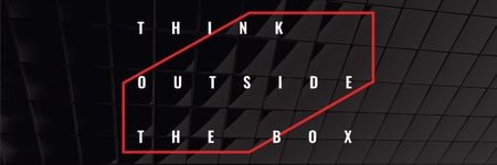 Plantilla de diseño de Think outside the box citation Twitter