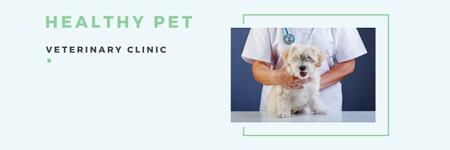 Ontwerpsjabloon van Twitter van Healthy pet veterinary clinic