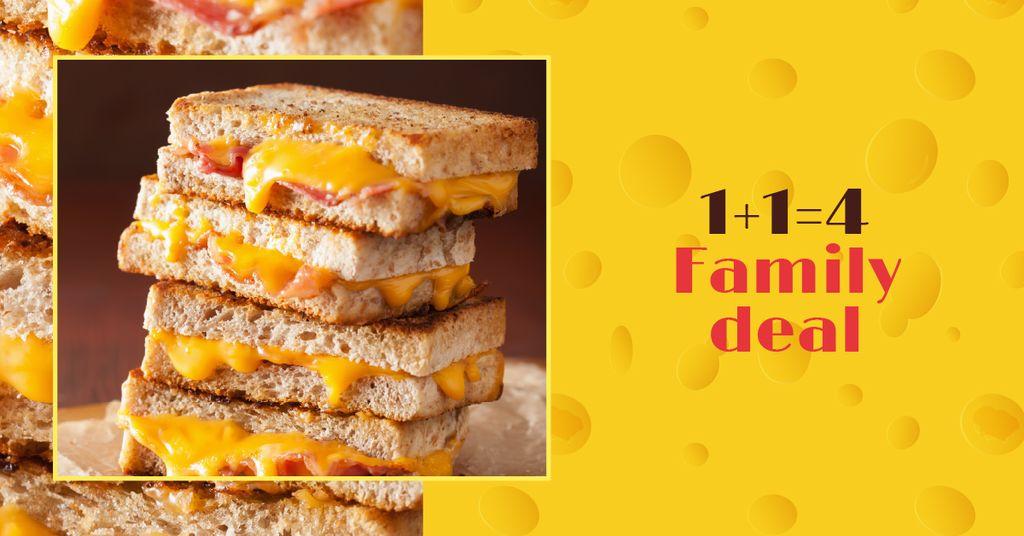 Grilled Cheese dish offer — Создать дизайн