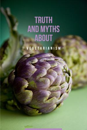 Template di design Truth and myths about Vegetarianism Pinterest