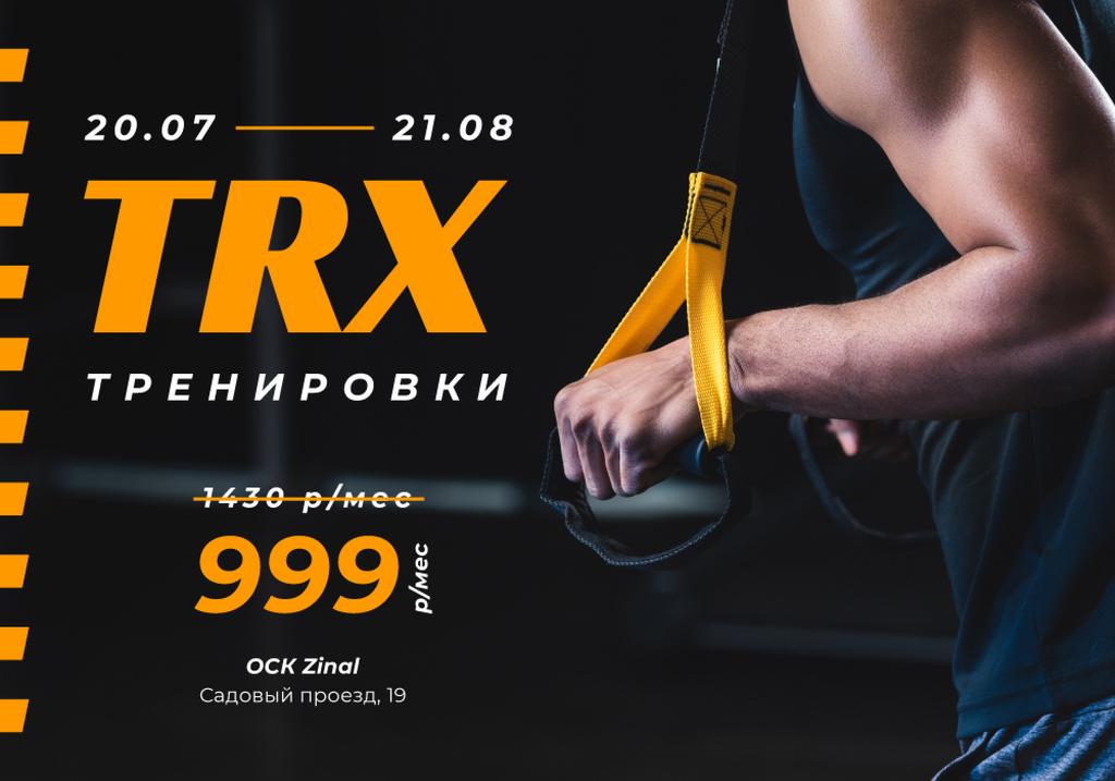 Gym Promotion with Man Resistance training — Crear un diseño