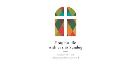 Plantilla de diseño de Pray for life with us this Sunday Image