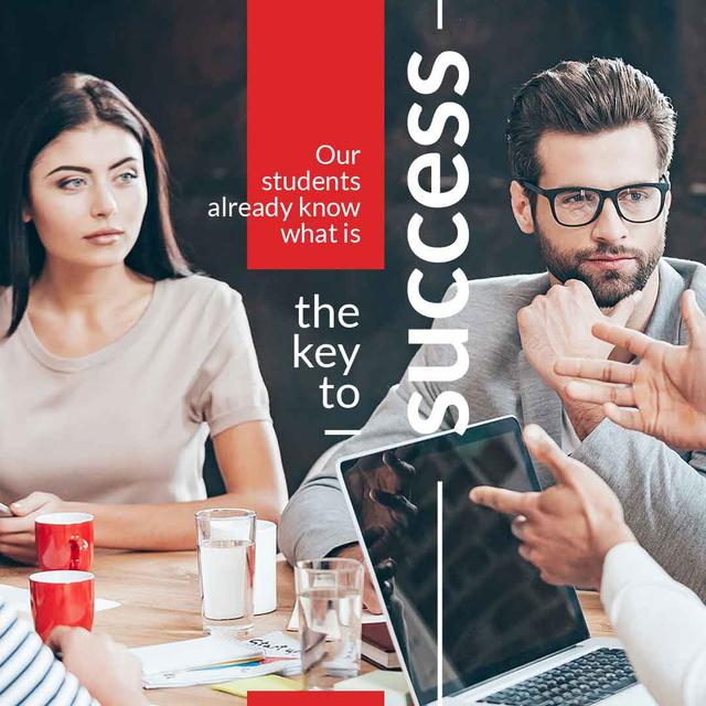 Plantilla de diseño de Business Success concept with Colleagues at meeting Instagram AD
