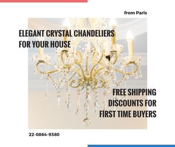 Elegant crystal Chandelier offer