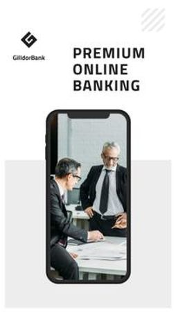 Online Banking services Mobile Presentationデザインテンプレート