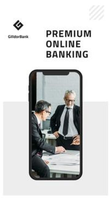 Designvorlage Online Banking services für Mobile Presentation