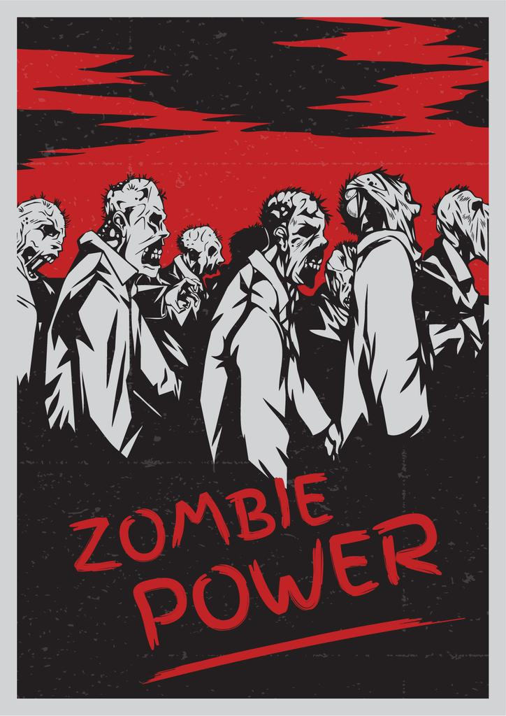 Zombie power scary poster — Створити дизайн