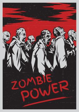 Zombie power scary poster