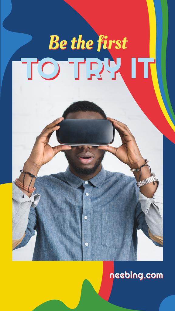 Man in vr glasses — Створити дизайн
