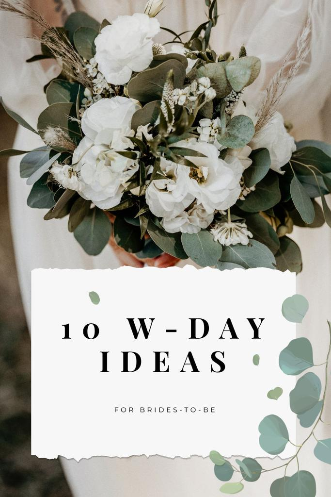 Wedding Day ideas for Agency ad Pinterest Design Template