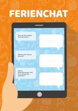 Holiday Chat on Tablet Screen | Poster Template
