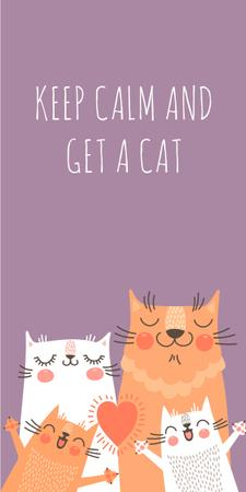 Plantilla de diseño de Adoption inspiration Funny Cat family Graphic