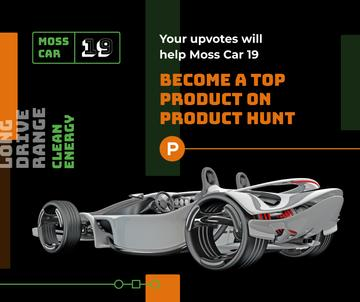 Product Hunt Launch Ad Sports Car | Facebook Post Template