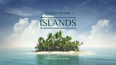 Designvorlage Indian ocean islands Ad für Presentation Wide