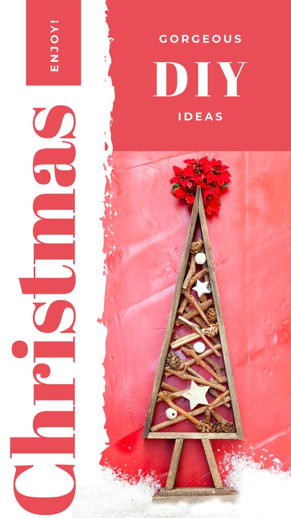 Stylized wooden Christmas tree — Créer un visuel