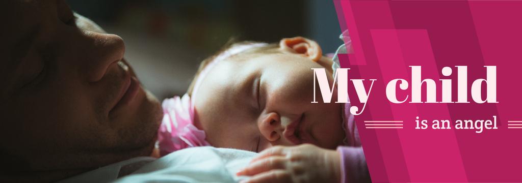Baby Sleeping on Father's Chest — ein Design erstellen