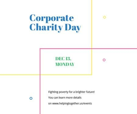 Plantilla de diseño de Corporate Charity Day Large Rectangle