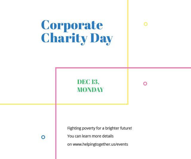 Ontwerpsjabloon van Large Rectangle van Corporate Charity Day