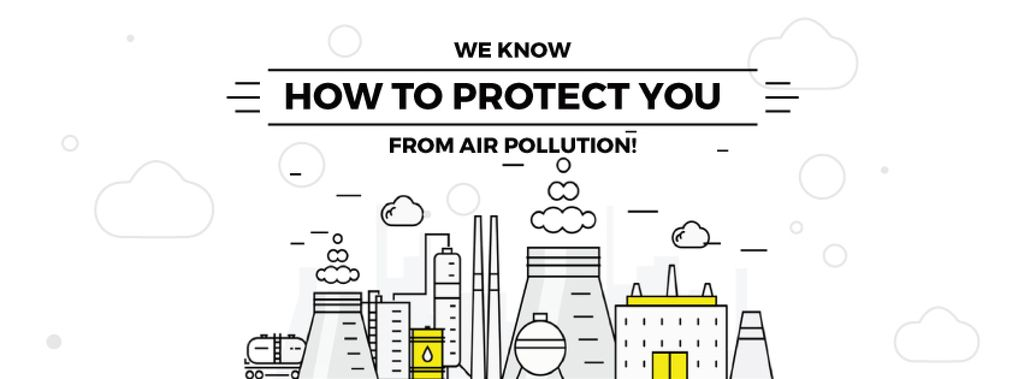 air pollution concept — ein Design erstellen