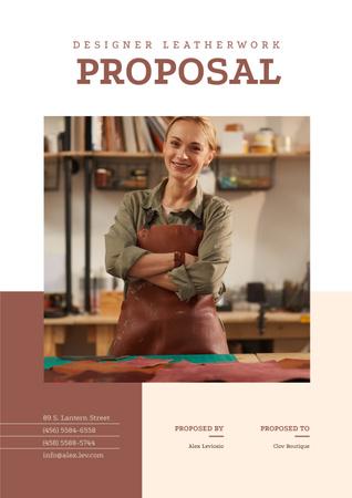 Template di design Leatherwork Designer services Proposal