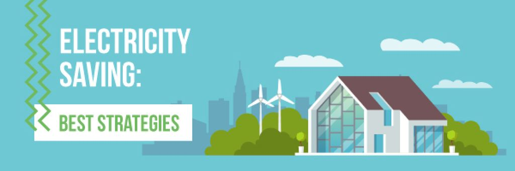 Energy Saving Technologies Smart House | Email Header Template — Створити дизайн