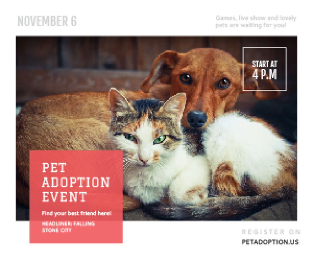 Pet adoption Event — Create a Design