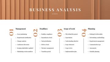 Business Analysis steps