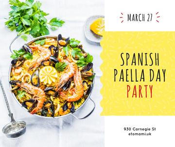 Spanish Paella party celebration