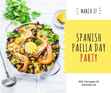 Modèle de visuel Spanish Paella party celebration - Facebook