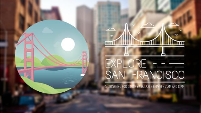 Plantilla de diseño de Tour Invitation with San Francisco Spots Full HD video