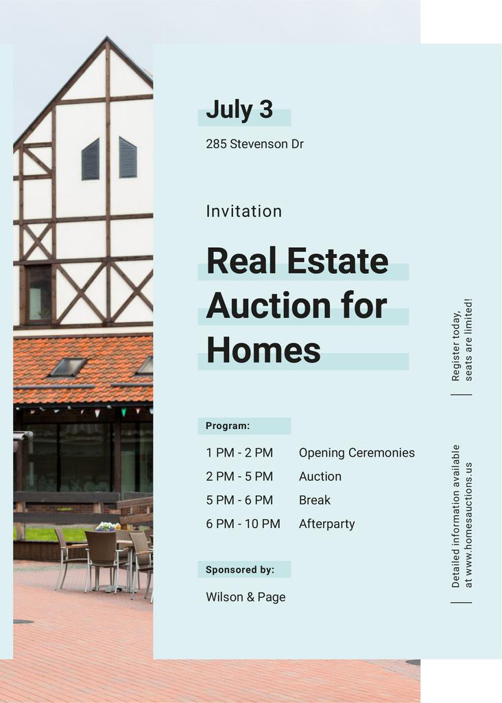 Modern house facade for Real estate auction — ein Design erstellen