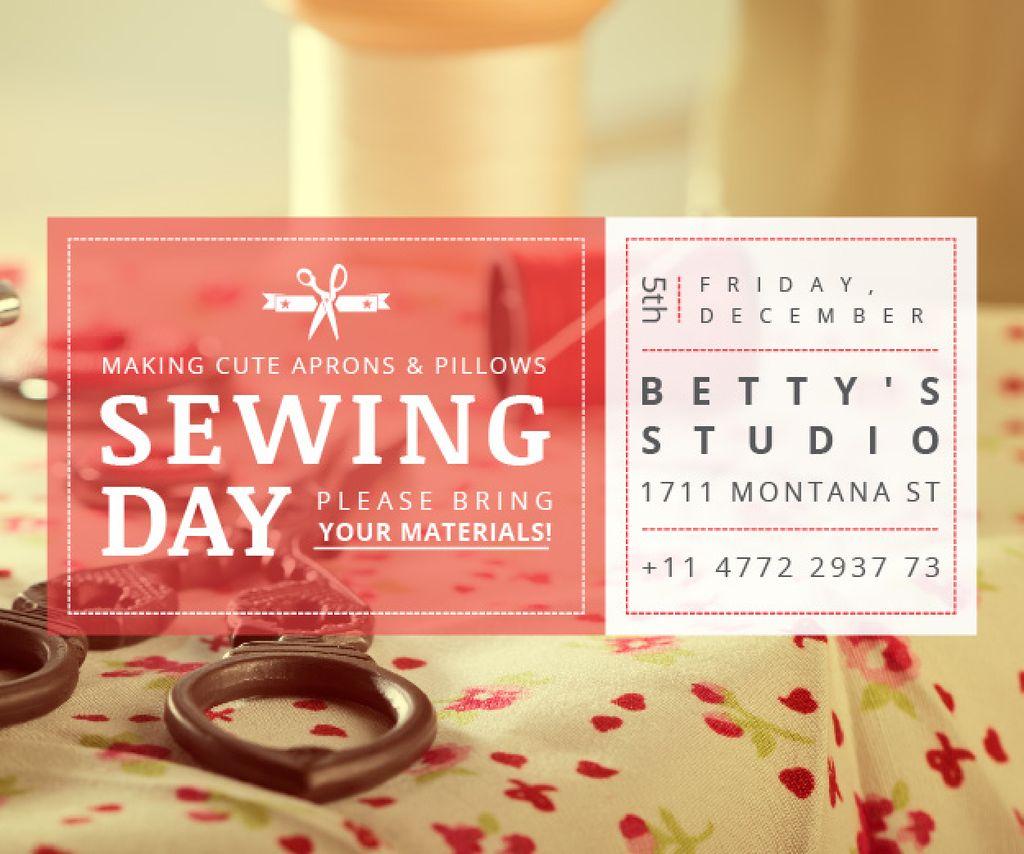 Sewing day event  — Modelo de projeto
