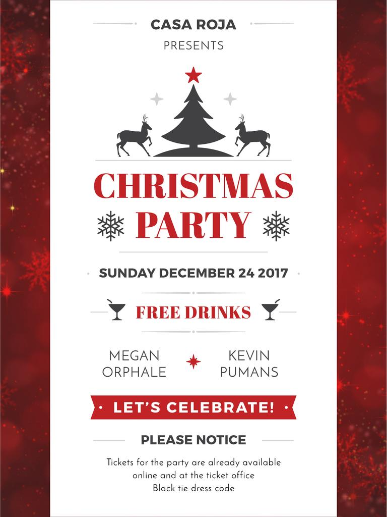 Christmas party card — Create a Design