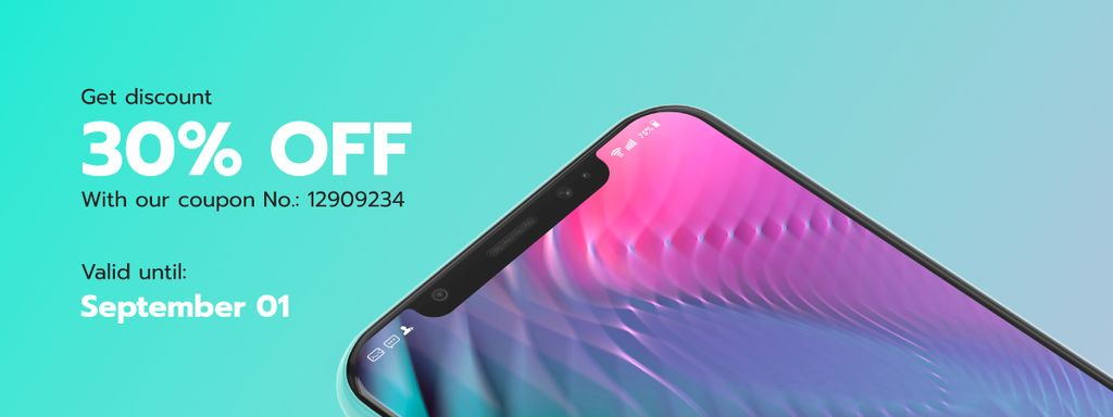 Discount Offer with Modern Smartphone — Створити дизайн