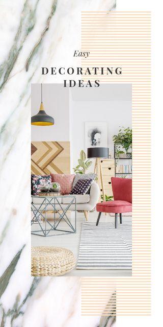 Plantilla de diseño de Cozy modern interior for Redecorating Ideas Graphic