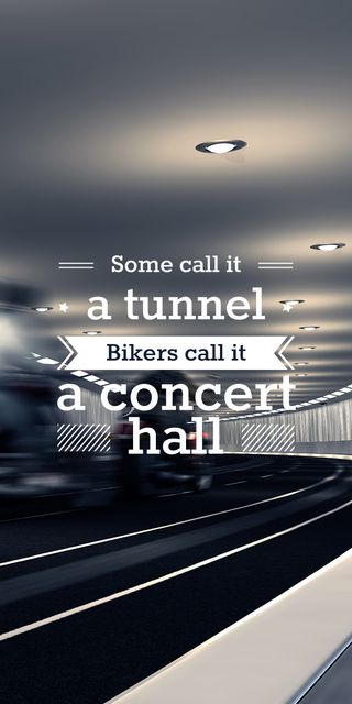 Szablon projektu Bikers in tunnel with funny quotation Graphic