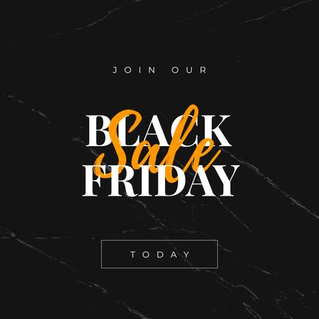 Plantilla de diseño de Black Friday sale on marble Instagram