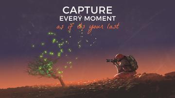 Photographer shooting fireflies