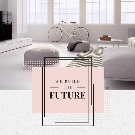 Plantilla de diseño de Home Interior Design in Pastel tone Animated Post