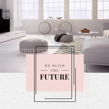 Home Interior Design in Pastel tone Animated Post Design Template