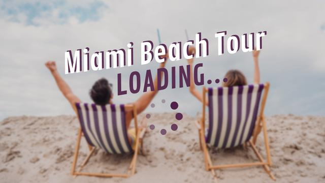 Modèle de visuel Travel Tour Ad Coupe in Chaise Lounge at the Beach - Full HD video