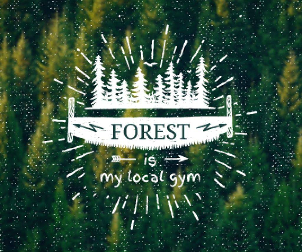 Forest quote poster — Створити дизайн