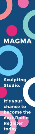 Sculpting studio poster Skyscraper – шаблон для дизайну