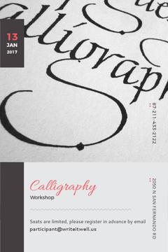 Calligraphy workshop Announcement