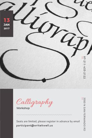 Ontwerpsjabloon van Pinterest van Calligraphy workshop Announcement