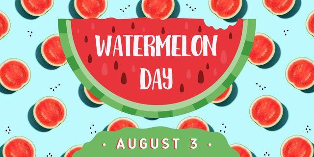 Summer watermelon day Image Tasarım Şablonu