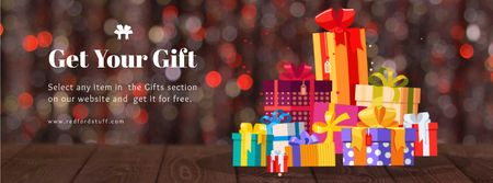Plantilla de diseño de Stack of gift boxes with bows Facebook Video cover