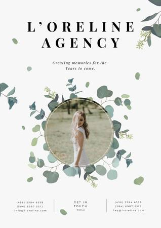 Plantilla de diseño de Happy Bride for Wedding Agency ad Poster