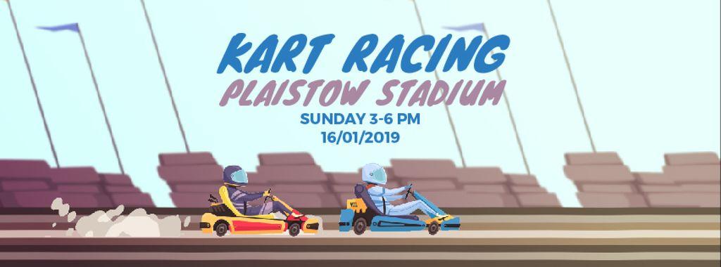 Karts racing on track — Crear un diseño